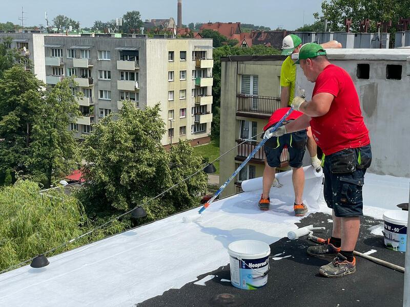 Hydroizolacja dachu płaskiego Zabrze – realizacje dla spółdzielni mieszkaniowych